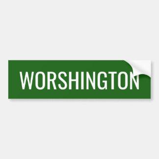 Autocollant De Voiture Prononciation de l'état de Washington