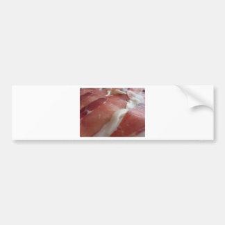 Autocollant De Voiture Prosciutto rustique de jambon comme arrière - plan