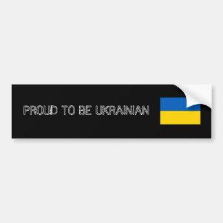AUTOCOLLANT DE VOITURE PROUD TO BE UKRAINIAN BUMPER STICKER