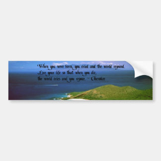 Autocollant De Voiture Proverbe indien indigène