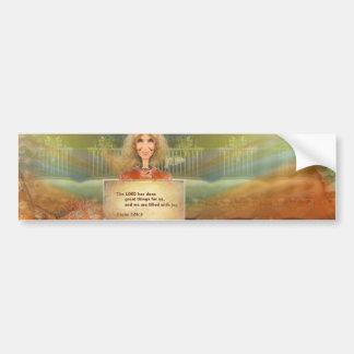 Autocollant De Voiture Psaume 120 d'automne de conte de fées rempli avec
