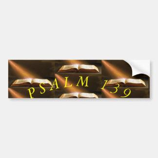 AUTOCOLLANT DE VOITURE PSAUME 139