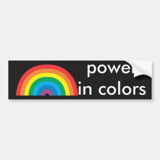 Autocollant De Voiture puissance en couleurs