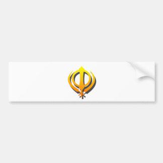 Autocollant De Voiture Punjabi sikh de Khanda Khalsa Sikhisme