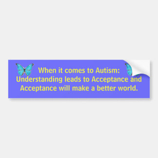 Autocollant De Voiture Quand il vient à l'autisme : La compréhension mène