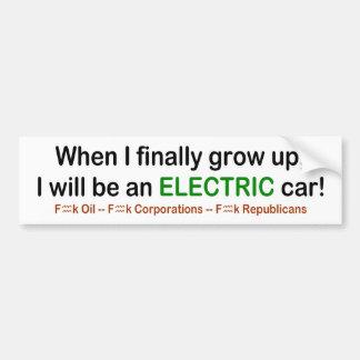 Autocollant De Voiture Quand je grandis je serai une voiture électrique !