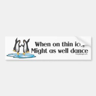 Autocollant De Voiture Quand sur la conception drôle de pingouins minces