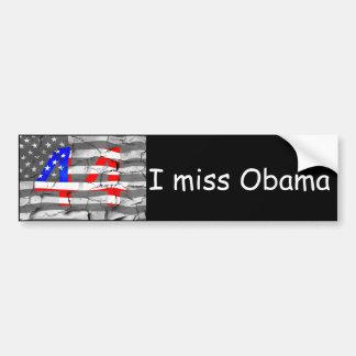 Autocollant De Voiture quarante-quatrième Le Président Obama Fan Flag