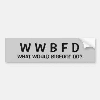 Autocollant De Voiture Que Bigfoot ferait-il ?