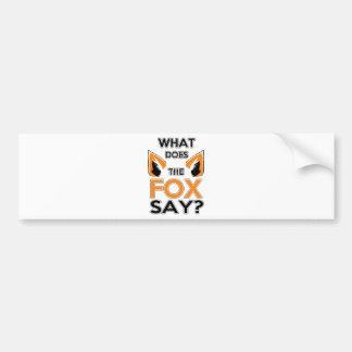 Autocollant De Voiture Que le Fox indique-t-il ?