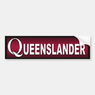 Autocollant De Voiture Queenslander. Australiens qui habitent au