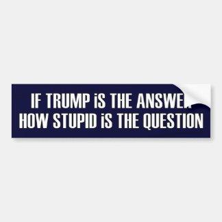 Autocollant De Voiture Question drôle pour des républicains de GOP