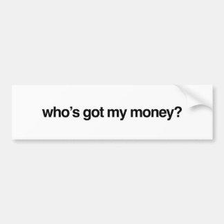 Autocollant De Voiture Qui a mon adhésif pour pare-chocs d'argent