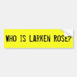 Autocollant De Voiture Qui est adhésif pour pare-chocs rose de Larken