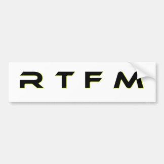 AUTOCOLLANT DE VOITURE R T F M
