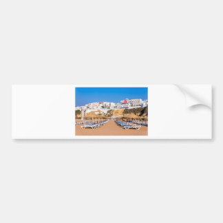 Autocollant De Voiture Rangées des parasols de plage avec buildings.JPG
