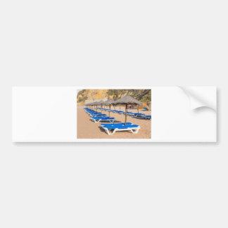 Autocollant De Voiture Rangées des parasols et de la plage en osier