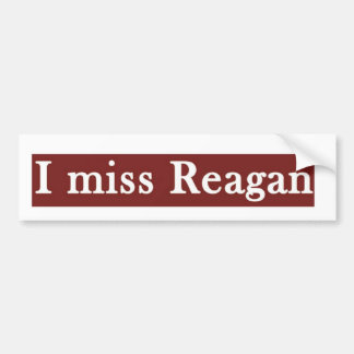 "Autocollant De Voiture Reagan ""JE MLLE REAGAN'"