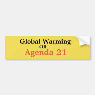 Autocollant De Voiture Réchauffement climatique ou ordre du jour 21