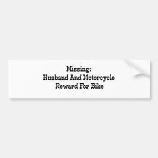 Autocollant De Voiture Récompense absente de mari et de moto pour le vélo