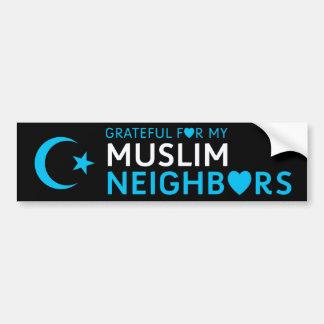 Autocollant De Voiture Reconnaissant pour mon voisin musulman