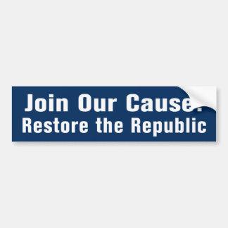 Autocollant De Voiture Reconstituez la République AntiObama Bumpersticker
