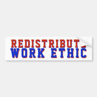 Autocollant De Voiture Redistribuez le GOP politique d'éthique de travail