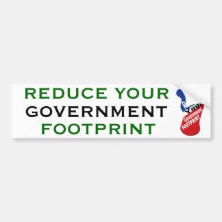 Autocollant De Voiture Réduisez votre empreinte de pas de gouvernement