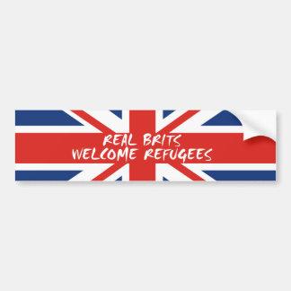 Autocollant De Voiture Réfugiés bienvenus de vrais Britanniques