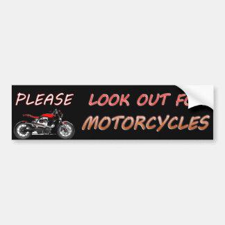Autocollant De Voiture Regardez svp pour des motos