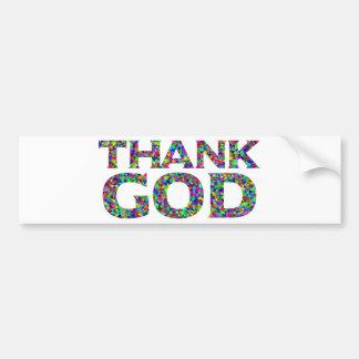 Autocollant De Voiture Remerciez Dieu