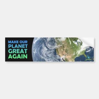 Autocollant De Voiture Rendez notre planète grande encore