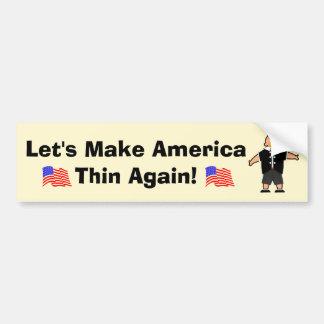 Autocollant De Voiture Rendons encore l'Amérique mince