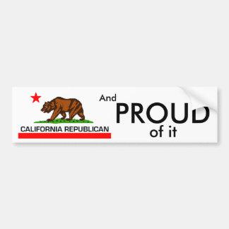 Autocollant De Voiture Républicain de la Californie