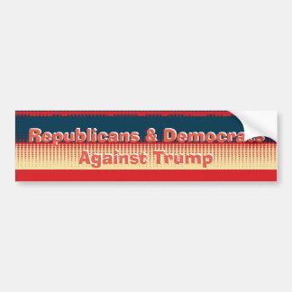 Autocollant De Voiture Républicains et Démocrate contre le pare-chocs