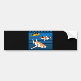 Autocollant De Voiture Requins de Koi