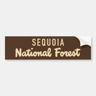 Autocollant De Voiture Réserve forestière de séquoia