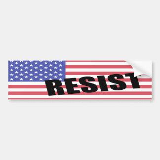 Autocollant De Voiture Résistez au drapeau des Etats-Unis d'atout