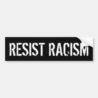 Autocollant De Voiture Résistez au racisme - l'anti Président Trump
