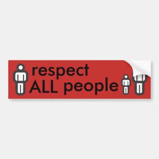 Autocollant De Voiture respectez toutes les personnes