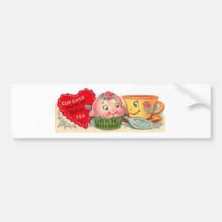 Autocollant De Voiture Rétro Saint-Valentin vintage de petit gâteau et de