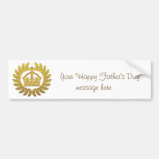 Autocollant De Voiture Roi de fête des pères