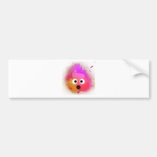 Autocollant De Voiture Rose/pourpre de peinture de jet de dunette d'Emoji
