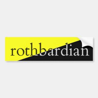 Autocollant De Voiture Rothbardian