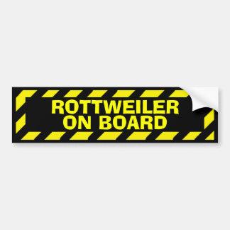 Autocollant De Voiture Rottweiler à bord d'autocollant jaune de