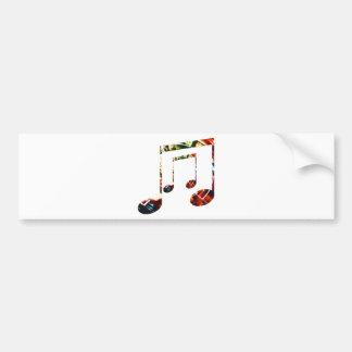 Autocollant De Voiture Rouge d'étincelle de musique