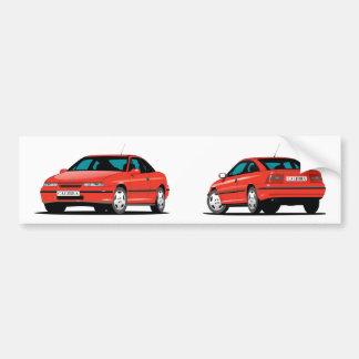 Autocollant De Voiture Rouge d'Opel Calibra