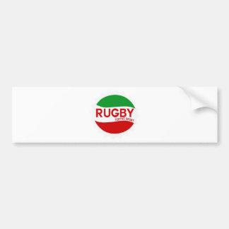 Autocollant De Voiture rugby festive sport