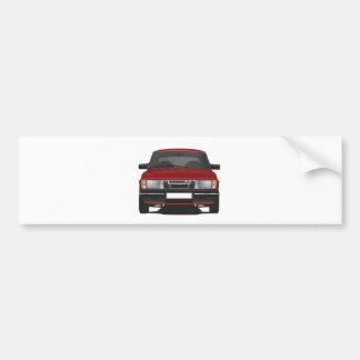 Autocollant De Voiture Saab 900 turbo (rouge)