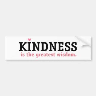 Autocollant De Voiture Sagesse de gentillesse